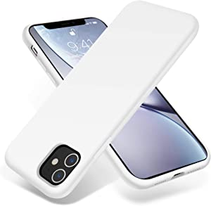 OTOFLY iPhone 11 Case,Ultra Slim Fit iPhone Case Liquid Silicone Gel Cover with Full Body Protection Anti-Scratch Shockproof Case Compatible with iPhone 11 (White)