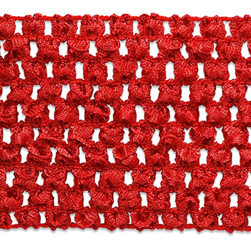 Expo International 2-3/4-Inch Crochet Stretch Trim Embellishment, 20-Yard, Red by Expo International