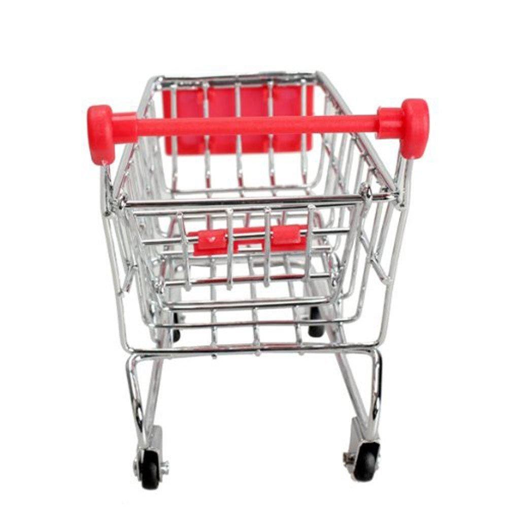 Amazon.com : MagicW Mini Shopping Cart Trolley for Desktop Decoration Ornament Toys Novelty Mini Toy Shopping Cart - Pen/Pencil/PostIt Holder Desk Accessory ...