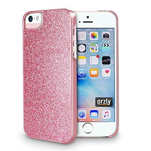 (Orzly - Orzly Art for iPhone SE - Rose Shimmer Case Cover Shell for iPhone 5 / iPhone 5S / iPhone SE)