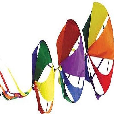 Premier Kites 22631 Wind Garden Spinnies Set, Rainbow, Jumbo : Wind Sculptures : Garden & Outdoor