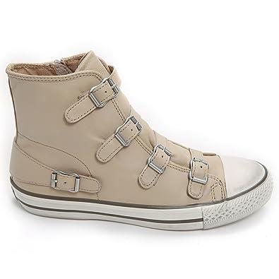 87115969cd9d Ash Footwear Virgin High Top Leather Buckle Trainer