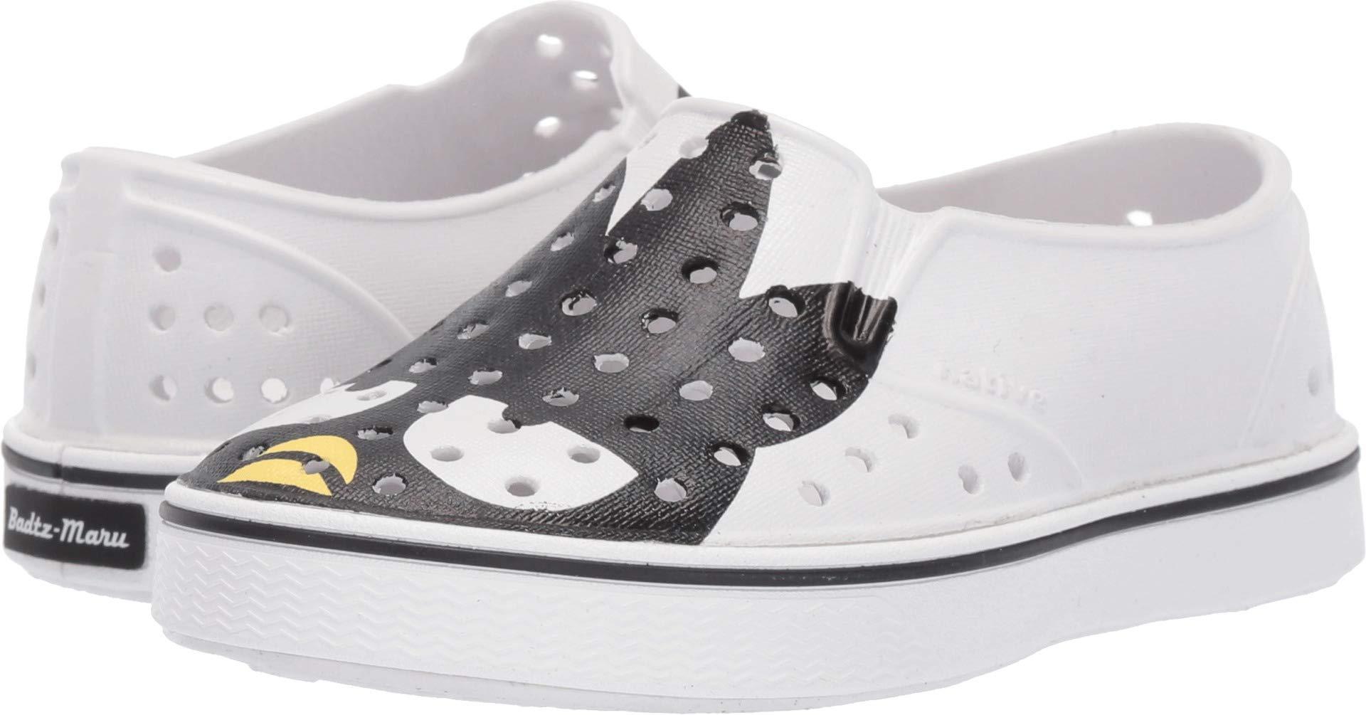 Native Kids Shoes Unisex Miles Print (Toddler/Little Kid) Shell White/Shell White/Batz 6 M US Toddler