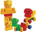 Brinquedo para Montar Blocos da Alegria 28 Peças Dismat