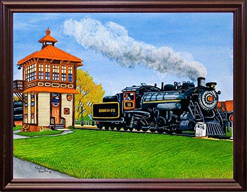 Strasburg Cherry - Frame USA Engine #90 At The Switch Tower, Strasburg Pa-THEWIN90461 Print 5.25