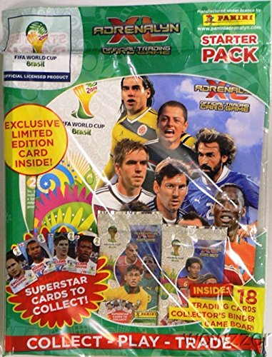 2014 Panini Adrenalyn XL FIFA World Cup Brazil Factory Sealed MEGA Starter Pack ! Includes Collectors Binder,Game Board,18 Cards and Exclusive Limited Edition Card! Imported from Europe ! from Wowzzer
