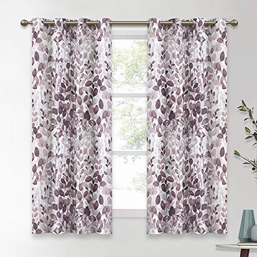 - KGORGE Watercolor Botanical Home Window Decoration, Brighten Living Space Block Out Light Glare Thermal Insulated Curtain Draperies for Bed & Bath, 52