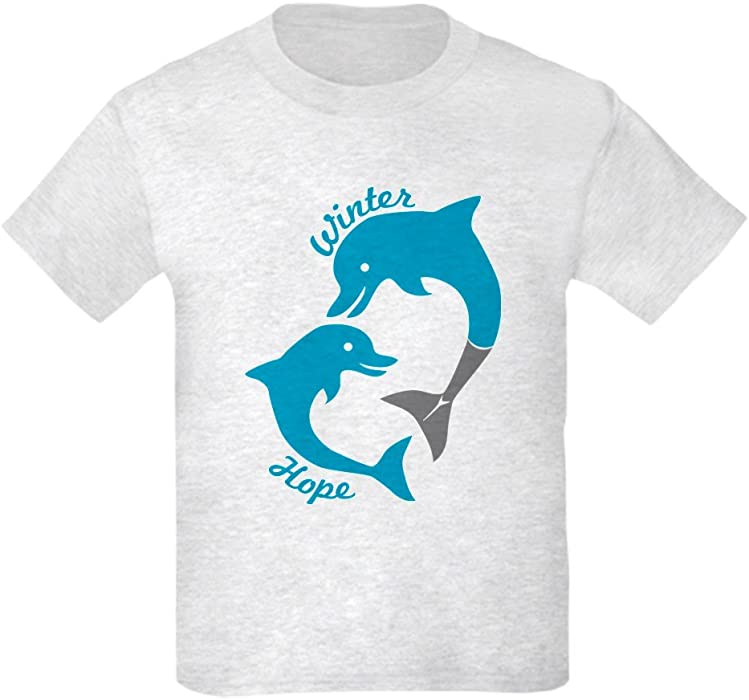 8f8056d0aa9 CafePress - Winter And Hope Dolphin Tale 2 T-Shirt - Kids Cotton T-