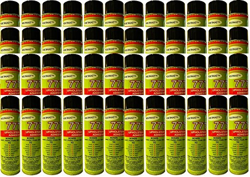 48 Polymat 777 PROFESSIONAL SPRAY GLUE ADHESIVE HIGH TACK BONDS FABRIC TO FABRIC by Polymat