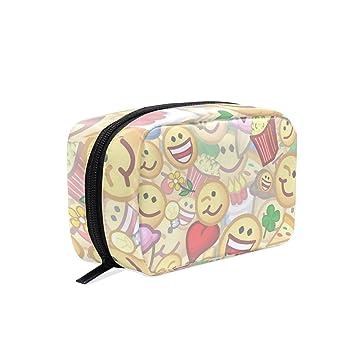 e0d94de7225f Amazon.com : MAPOLO Emotes Handy Cosmetic Pouch Clutch Makeup Bag ...