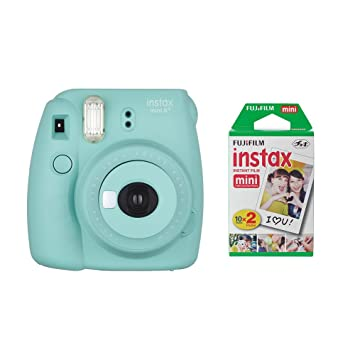Amazon Fujifilm Instax Mini 8 Instant Film Camera Mint With 2 X 10 Shoots Total 20 Colorful Photo Frame Stickers Pcs