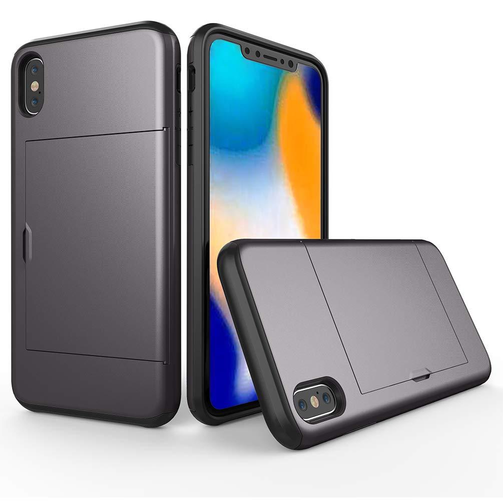 Samhe B07HD4K1FM グレー iPhone Xs Max