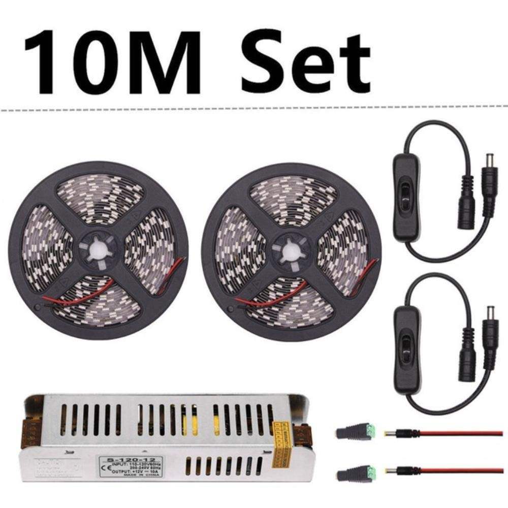 DC 12V LED Strip Grow Lights 30M 20M 15M 10M 5M Waterproof LED Plant Growing Light Strip Flexible Tape 60led//m with Power Switch-15m Set,4 Red 1 Blue,IP20 Not Waterproof