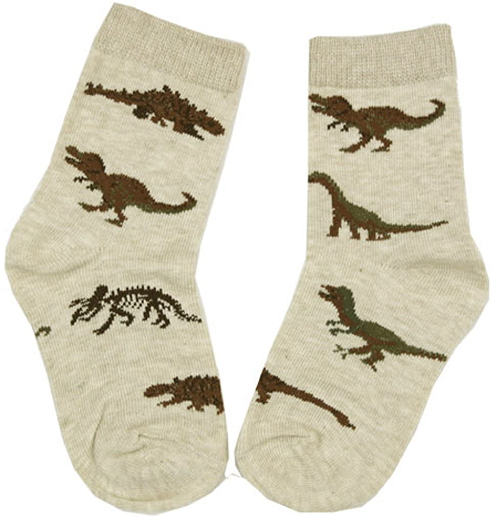 Country Kids Khaki Real Dinosaur Socks Size 5-6 Baby Boy