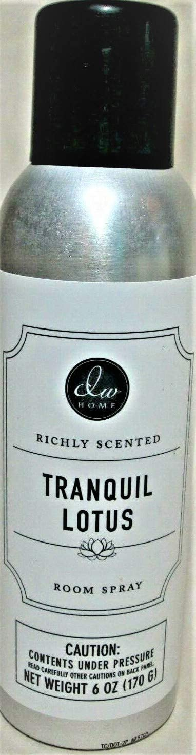 DW Home Richly Scented Tranquil Lotus Room Spray Air Freshener Fragrance, 6 oz.