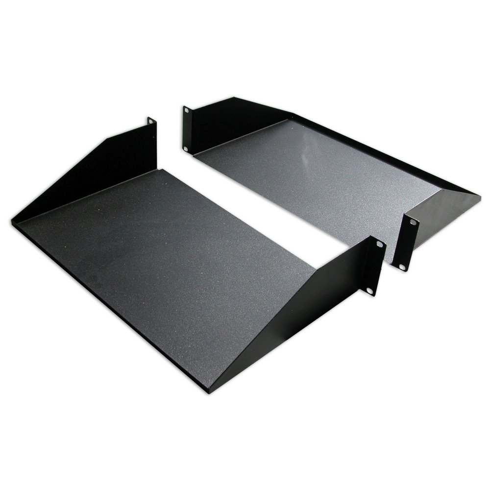 Quest Manufacturing Double-Sided Non-Vented Divided Shelf, 2 Unit, 19'' x 25''D, Black (ES0919-0225)