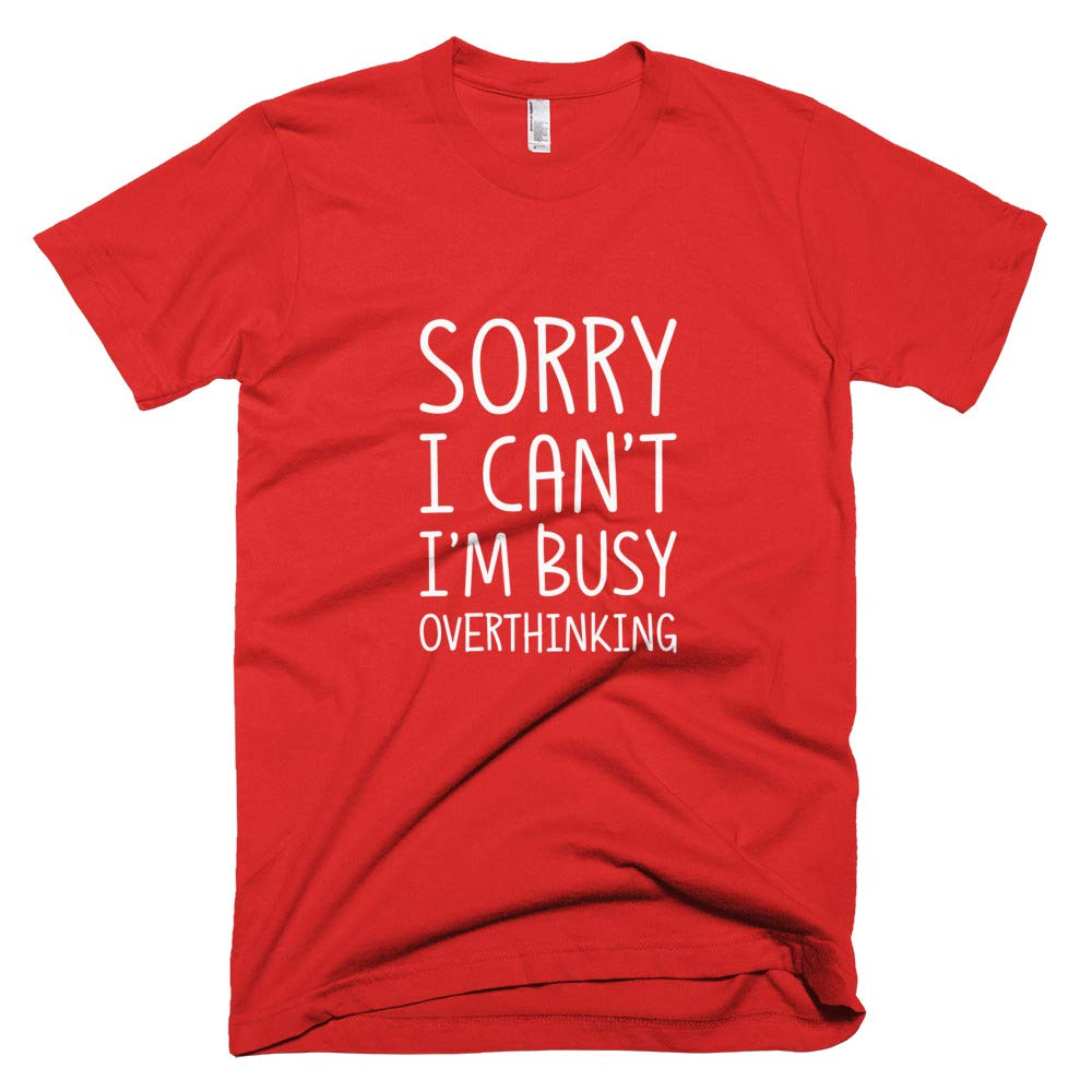 Smart T-Shirt Tee Gift Funny Iq Philosopher Over Thinker Sorry I Cant Im Busy Overthinking