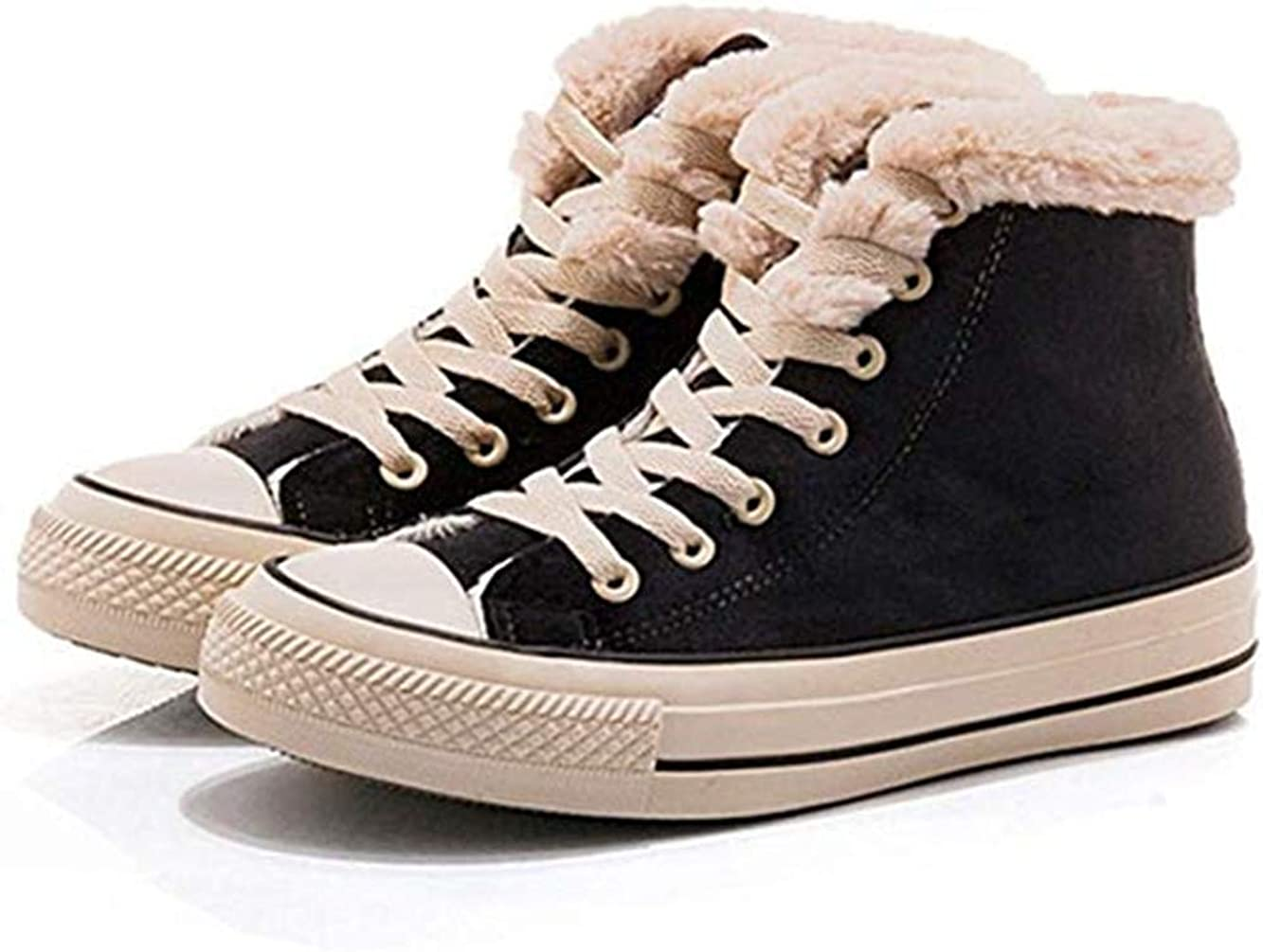 Fashion Sneakers Fur Lined Flat Shoes