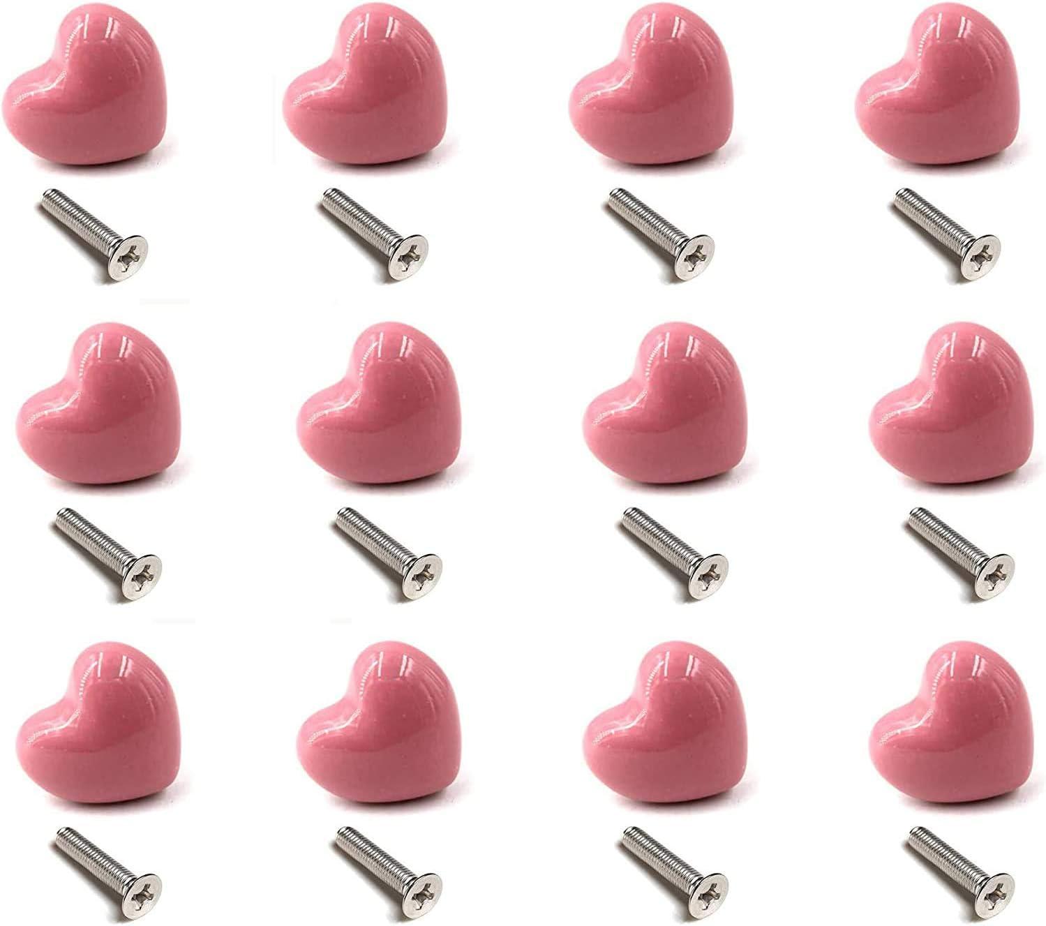 La c/éramique Boutons de Porte Lot de 12 Boutons de Poign/ées Boutons de Meuble de Meuble pour Placards de Cuisine Blanc