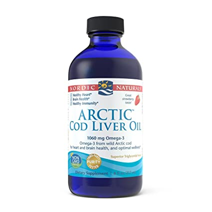 Aceite de hígado de bacalao ártico, fresa, oz fl 8 (237 ml)