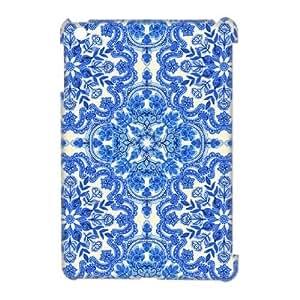 Deep indigo floral pattern 3D Case for Ipad Mini,diy Deep indigo floral pattern 3d case
