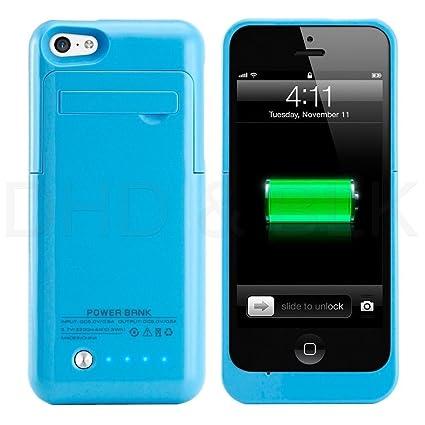 Amazon.com: Para iPhone 5 C/5S recargable 2200 mAh slim ...