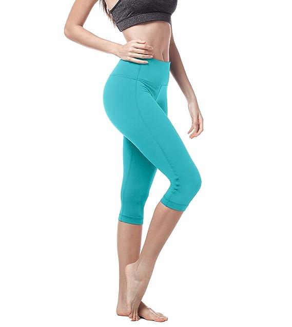 LAPASA Mallas Deportivas 3/4 Capris de Mujer Cintura Alta (Leggings para Yoga, Pilates, Running) L02
