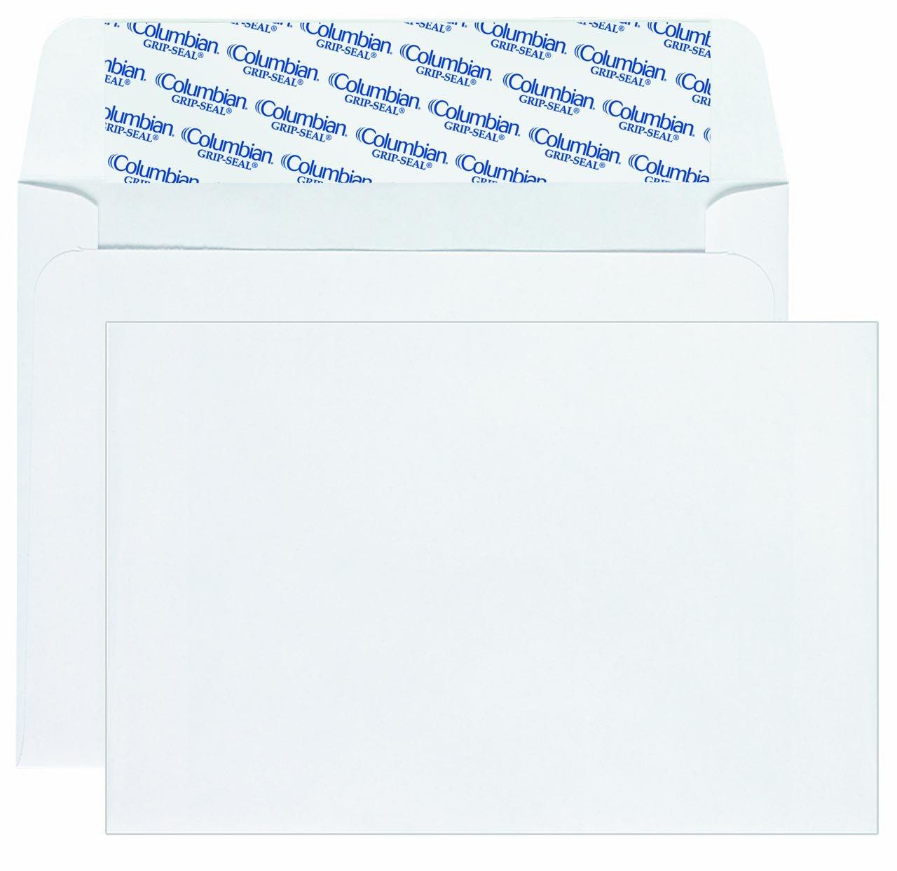 Columbian Invitation Envelopes, A9, Grip-Seal, 5.75 x 8.75 Inch, White, 100 Per Box (CO468) MEAD WESTVACO