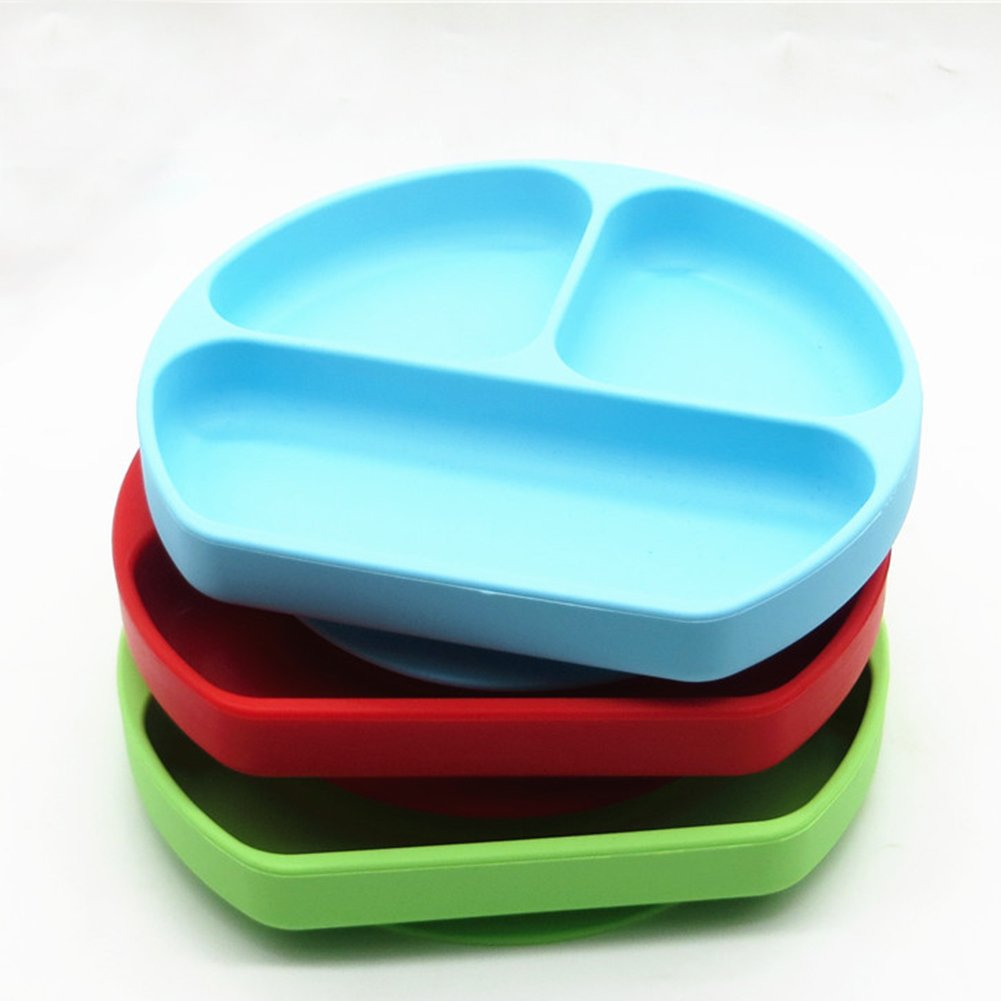 Silicone Suction Baby Plate Strong Suction Ultra Thick Weaning Toddler Feeding