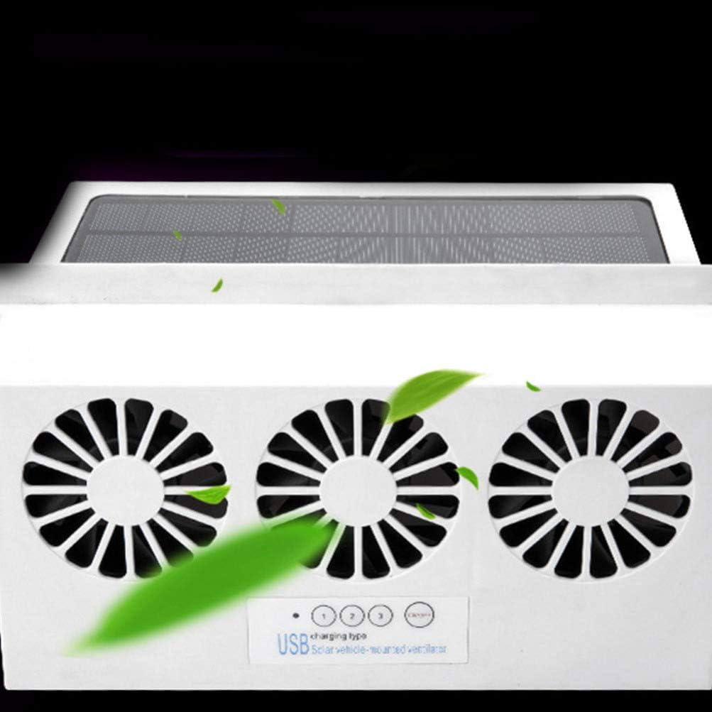 Vosarea Car Radiator Durable Portable Solar Power Rechargeable Professional Radiator Ventilation Fan Cooler for Car Auto