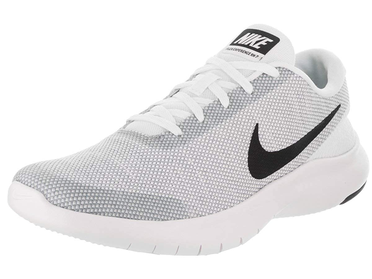 Multicolour (White Black Wolf Grey 100) Nike Men's Flex Experience Rn 7 Running shoes