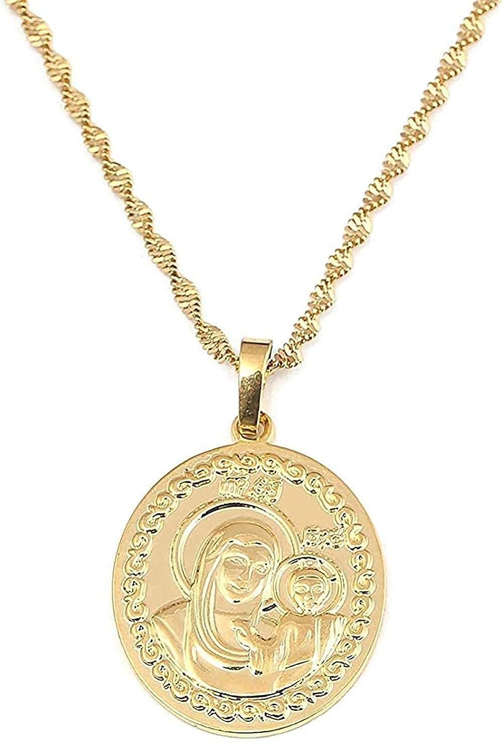 Yiffshunl Collar Ruso Collar con Colgante de Color Dorado Rusia Grecia Ucrania Cadena joyería Colgante Collar niñas niños Regalo