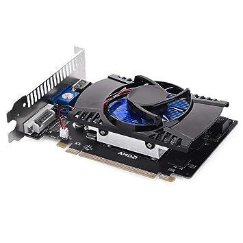 Radeon HD7670 - Tarjeta gráfica (128 bit, PCI-E, HDMI, VGA, DVI, 4 ...