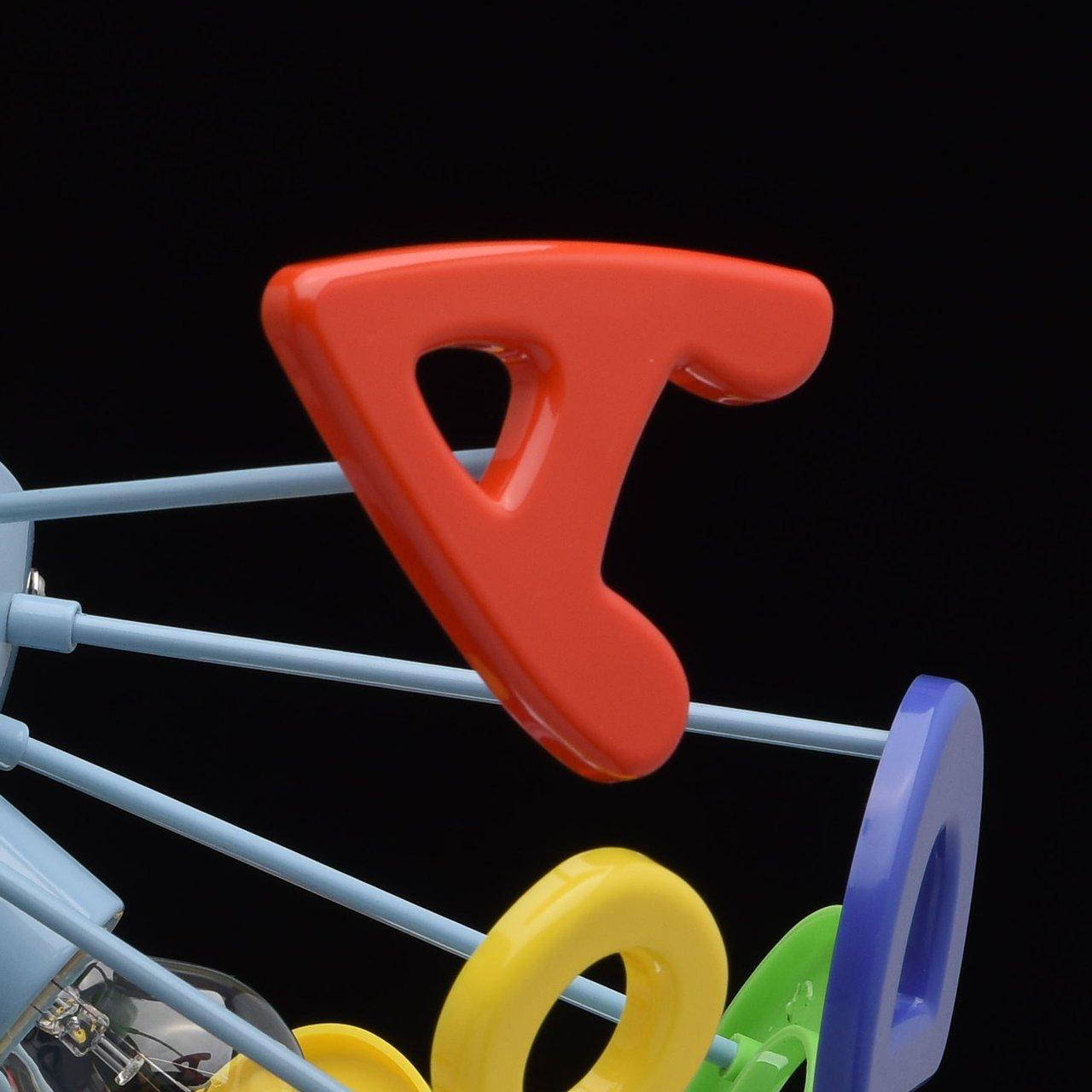Plafoniera ecologica plastica multicolore con lettere decorative ...