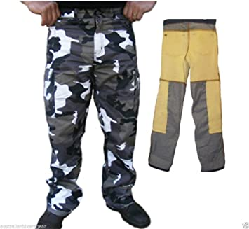 Bikers Gear Australia Classic Cut Kevlar Lined Protective Motorcycle Trouser Kevlar Jeans with Removable CE1621-1 Armour Size 36S Black