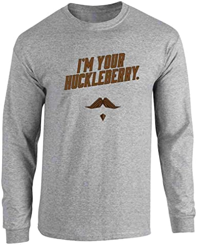 Im Your Huckleberry Western Quote Funny Vintage Long Sleeve T-Shirt