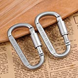 OLESTAR Aluminum D-Ring Locking Carabiner D