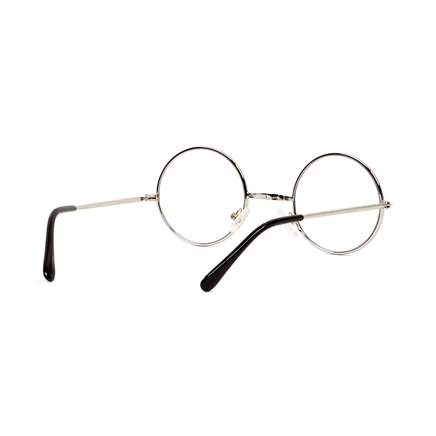 Gravity Shades Circular Silver Frame Clear Lens Glasses