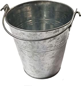 Outspark Metal Bucket for Traeger Wood Pellet BBQ Grills - Metal Pail with Handle