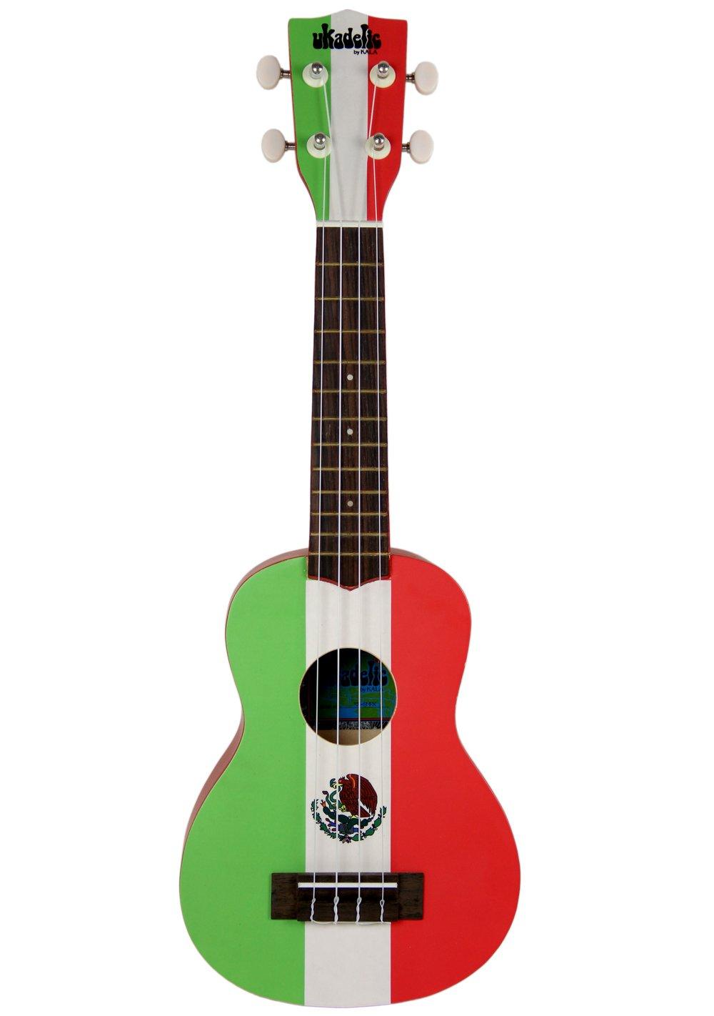 amazon com kala ka smex ukadelic soprano ukulele mexico flag
