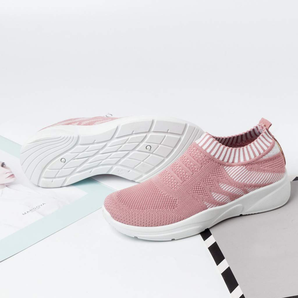Tanlo New Womens Summer Spring Casual Walking Shoes Breathable Mesh Lightweight Sports Shoes Work Slip-on Sneakers