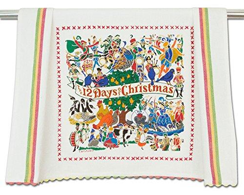 Catstudio 12 Days of Christmas Dish Towel ()