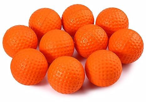 c-pioneer 10 unidades, espuma de poliuretano de golf pelotas de práctica elástico esponja