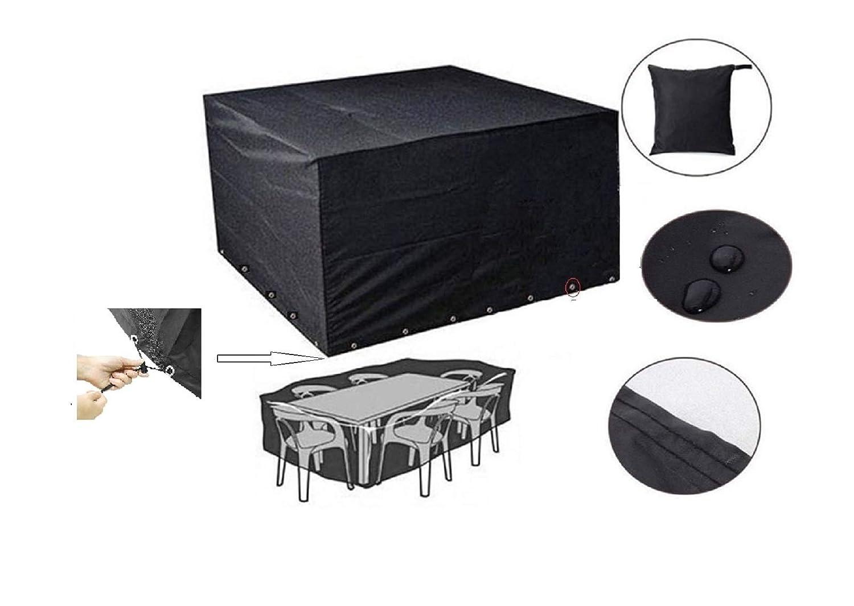 HelpAccess Copritavolo da giardino /Telo copri tavolo da esterno impermeabile, Anti-UV, Telo protettivo per tavolo e sedie di Alta Qualità (210 x 150 x 72cm), 48 mesi di Garanzia! HelpAccess Germany