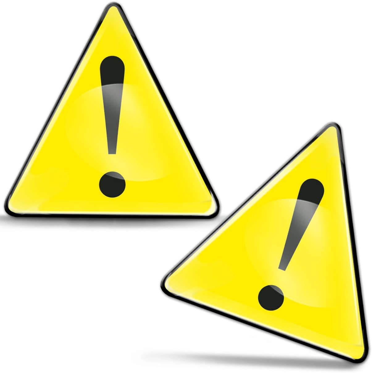 SkinoEu® 2 x 3D Gel Pegatinas Advertencia Seguridad Biológico Biohazard Toxico Precaución Detener Firmar Peligro Adhesiva Señal Riesgo Eléctrico Sécurité Radiactivos Símbolo Seguridad KS 130
