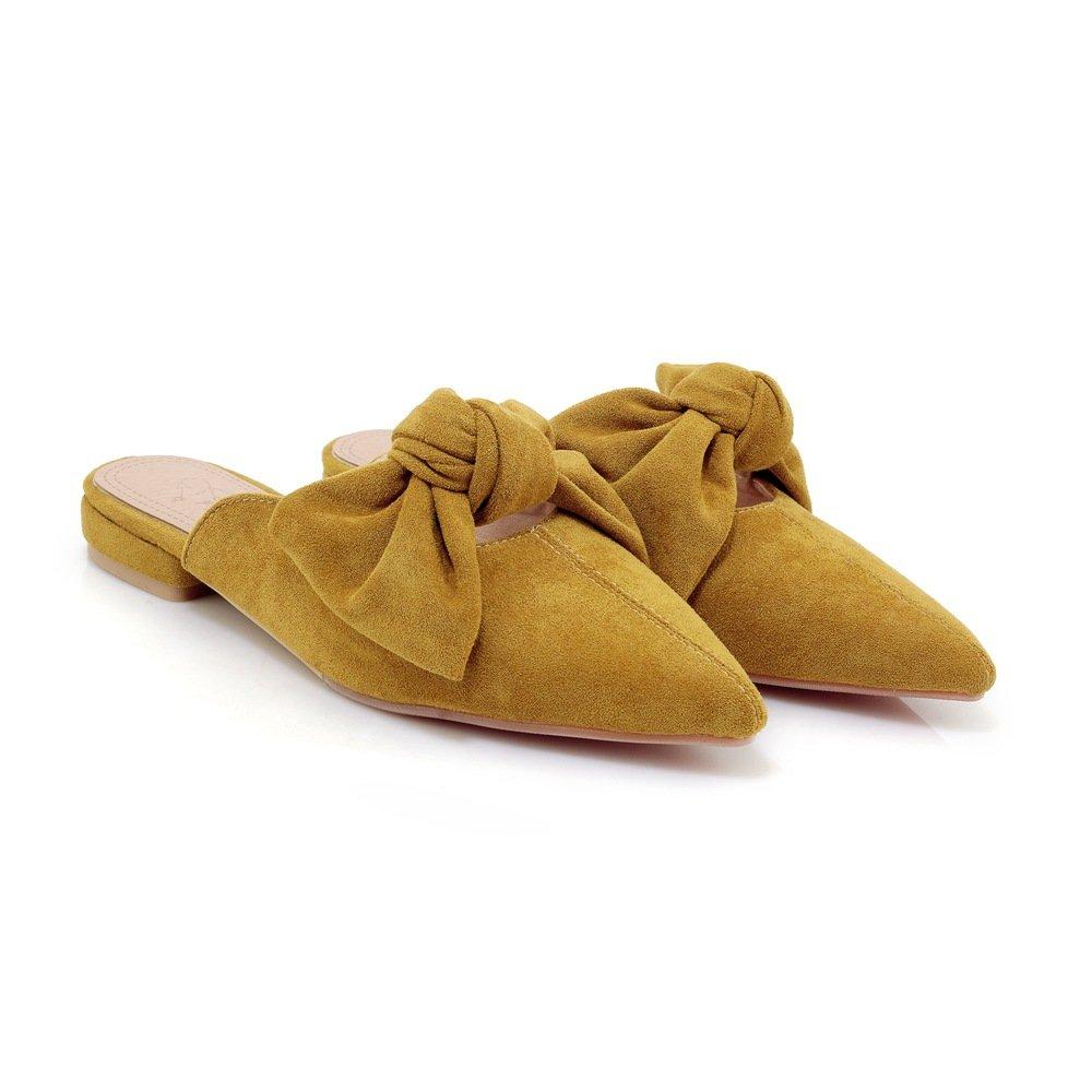 Sandales pour Femmes à Talons Bas, Talons Pantoufles pour à Jaune 5b372e8 - piero.space