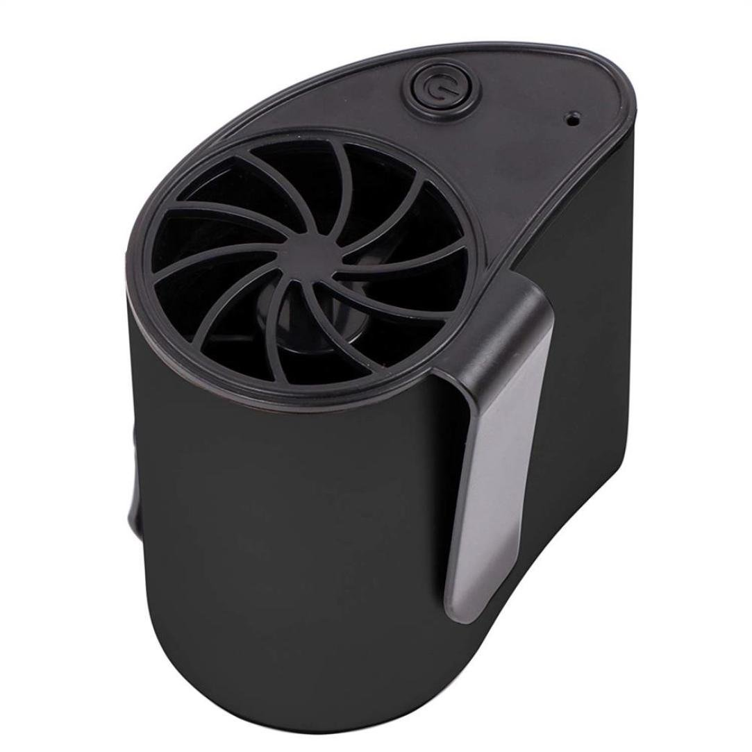 Buyeverything Outdoor Portable USB Rechargeable Fan Clip on - Personal Air Conditioner Fan Can be Worn on the Waist - Great for Camping, Fishing and Outdoor Working (Black)