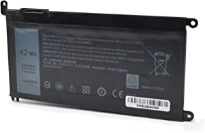 WDXOR Laptop Battery for Dell Inspiron 13 7378 7368 5000 5378 5368 15 5565 7579 5567 5568 5578 7560 7570 7569 17 5000 5765 5767 5770 Series Fits 3CRH3 T2JX4 FC92N CYMGM[11.4V 42WH]