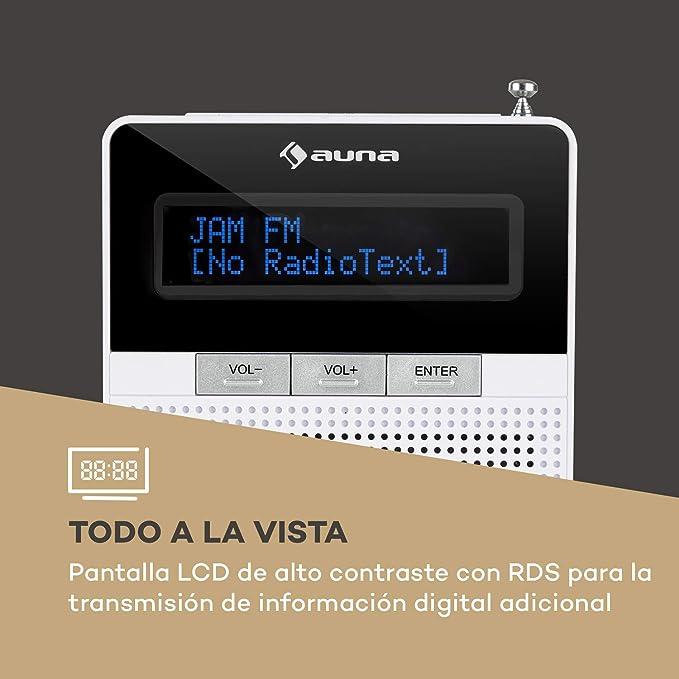 auna DigiPlug Dab - Radio de Enchufe , Radio Dab+ con RDS ...