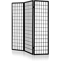 Artiss 3 Panel Room Dividers Wooden Foldable Privacy Screens (Colors: Black/Natural/White)